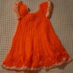 Оригинальное вязаное платье