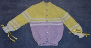 стильная вязаная кофта для ребёнка