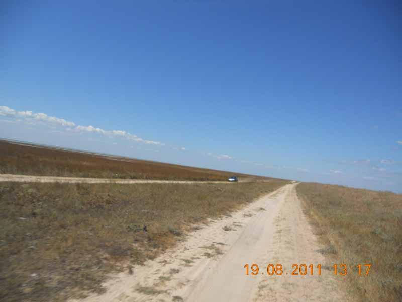 дорога Арабатская стрелка водоем озеро