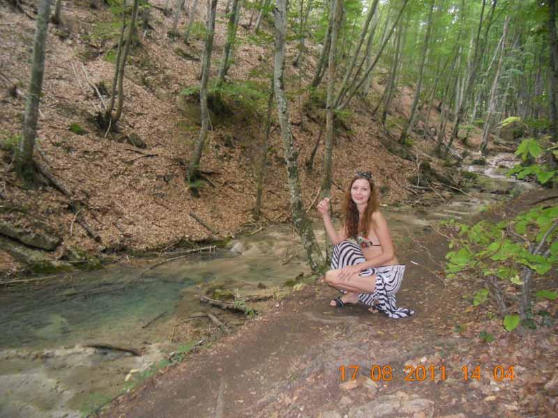 Серебряные струи - водопад речка на серебряные струи