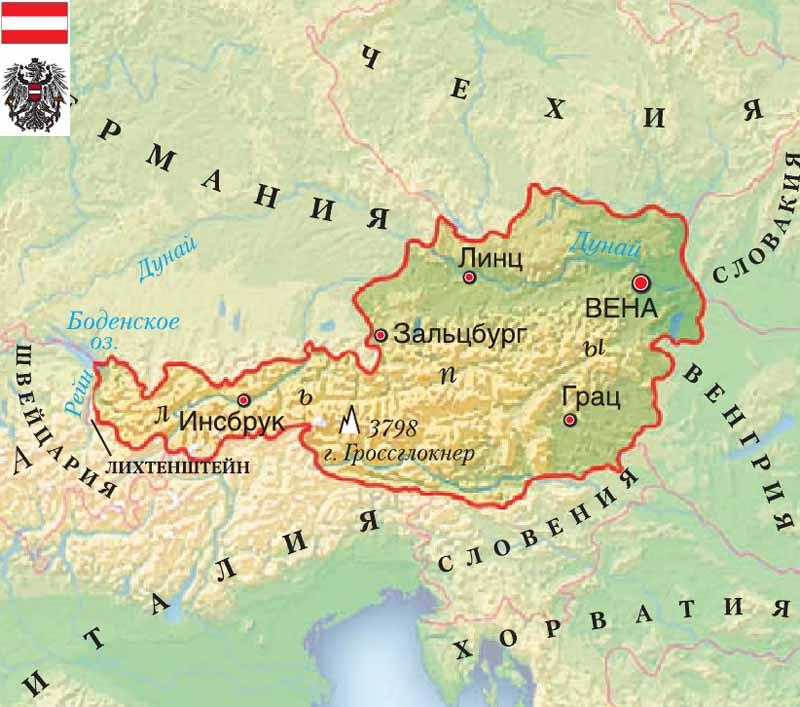 карта Австрия