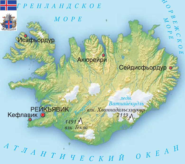 карта Республика Исландия
