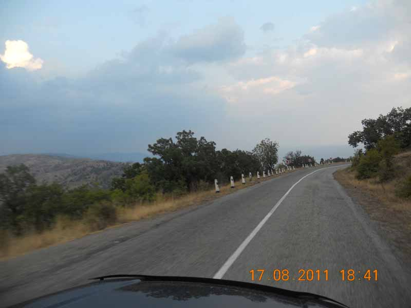 дорога Ялта - Феодосия
