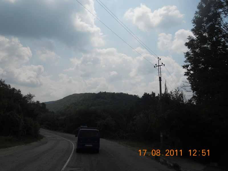 дорога Бахчисарай - Ялта серпантинт